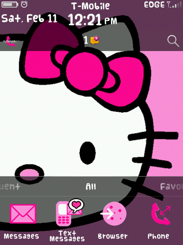 Hermoso Tema Hello Kitty Especial San Valentin Para BlackBerry 9630